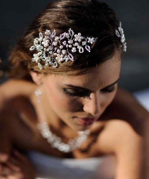 Заколка для волос на свадьбу фото