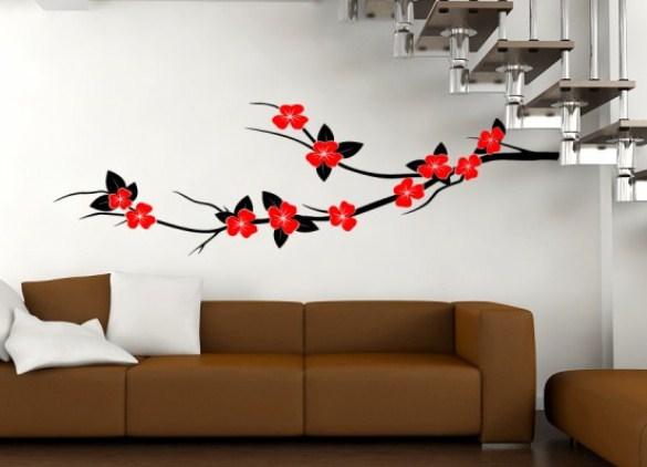 Рисунки на стене  сакура 144