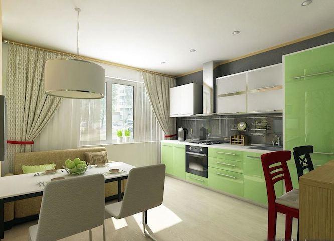 кухня дизайн фото с диваном