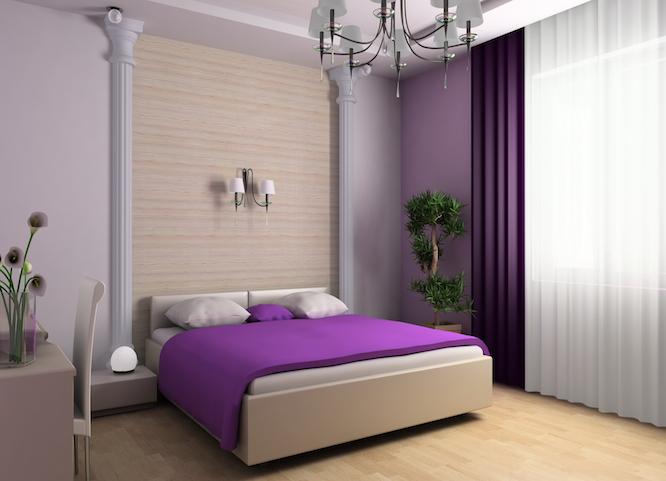 оформление стен обоями в квартире фото