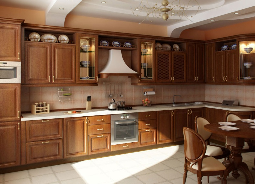 Смотреть кухню и холодильник