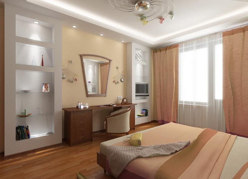 красивый дешевый ремонт в спальне частный дом фото вдохновения