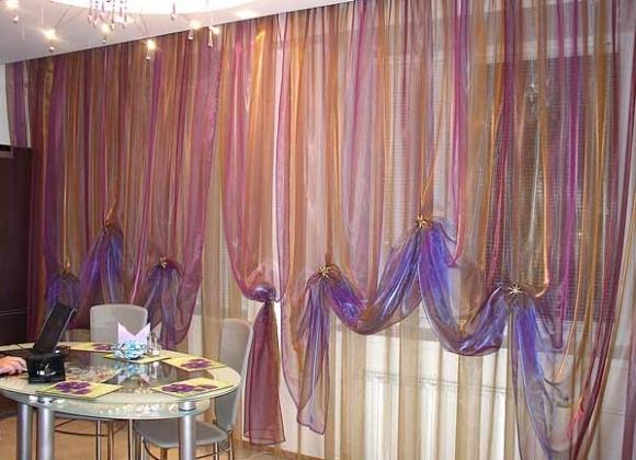 Как красиво оформить шторы своими руками