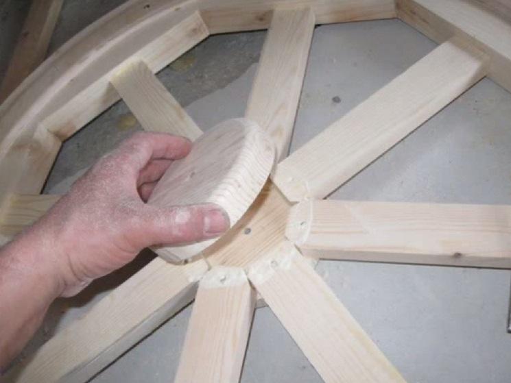 Как сделать своими руками люстру из колеса телеги фото 842