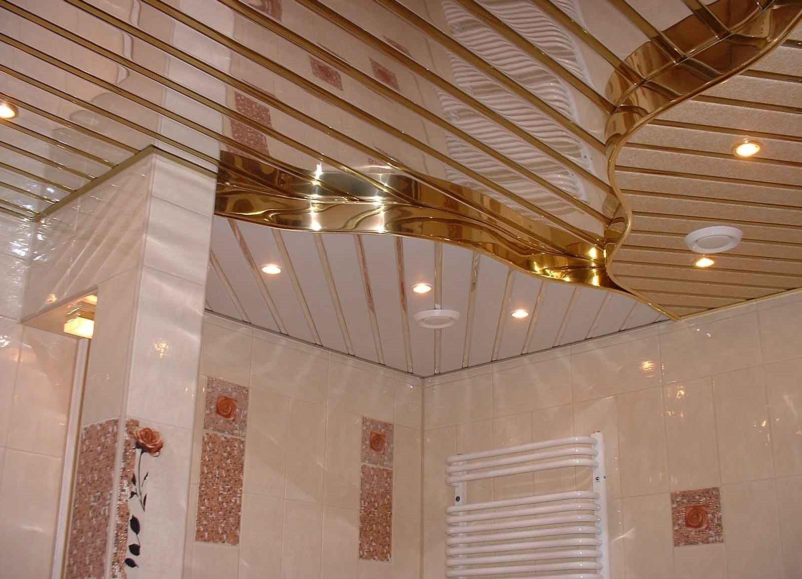 Как сделать реечный потолок в ванной фото 727
