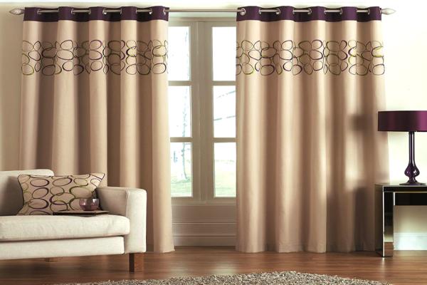 шторы для зала фото с люверсами