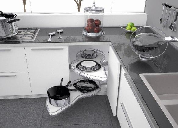 угловые кухонные шкафы фото