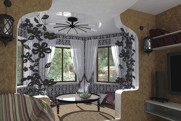 Дизайн квартиры с эркерами 35