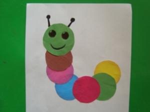 Гусеница из бумаги своими руками 44