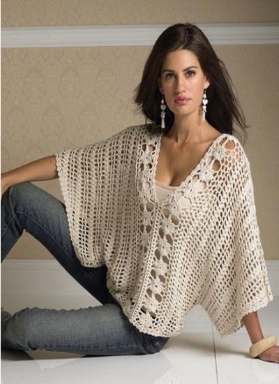№ 153 крупный ажурный узор для вязания спицами | ажур схемы.