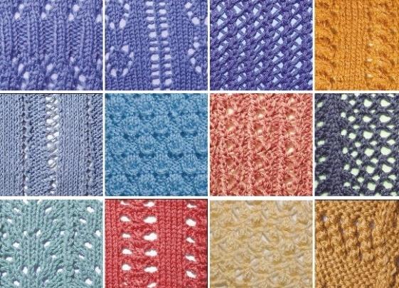 рисунки для вязания спицами вертикальные ажурные