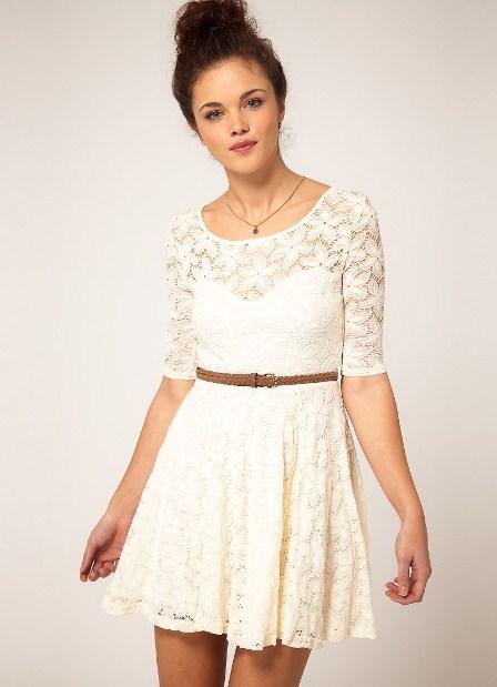 гипюровое платье белое фото