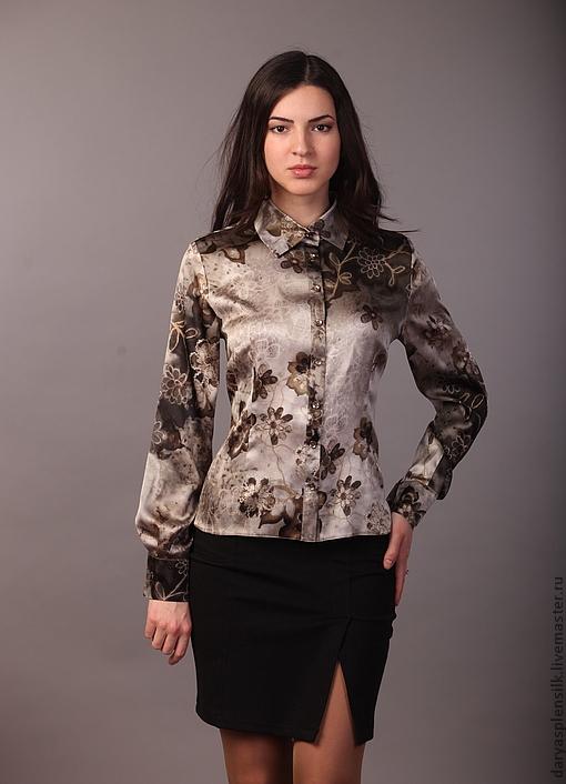 Блузка из шелка натурального