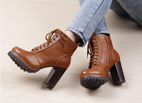 ботинки фото на каблуке