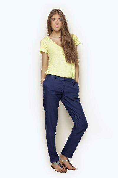 синие брюки фото женские