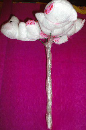 Цветы из органзы своими руками (букет, топиарий).Мастер 48