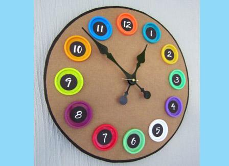Модель циферблата часов для детей из бумаги своими руками