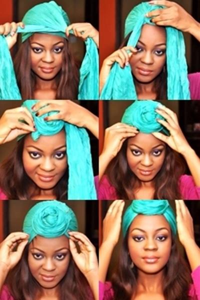 Как красиво завязать платок на голове, если у Вас короткие 53