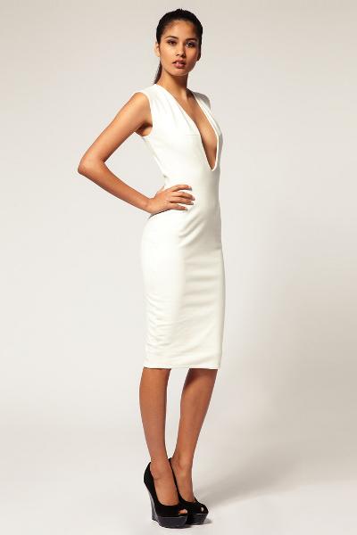 b1d7ffff688 Белое платье футляр