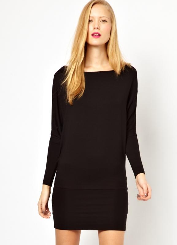 f51b1d0a89d ... Черное платье с длинным рукавом 5 ...