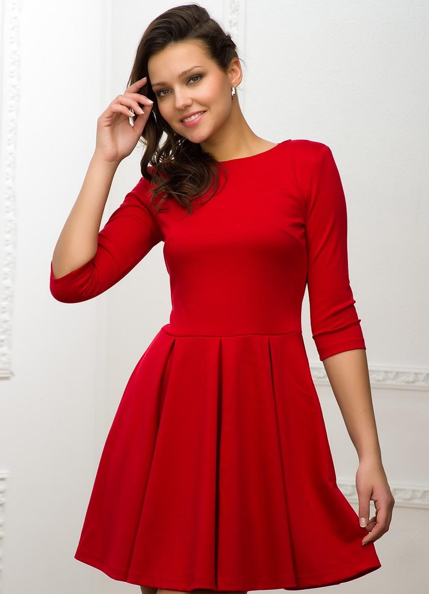 2623094cef6 ... Красное платье с длинным рукавом 2 ...