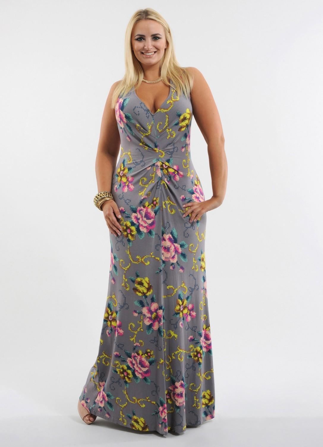 655e6c10945 Фасоны летних платьев для полных ...