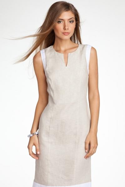 Льняное платье в стиле бохо 116