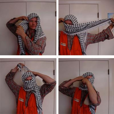 Как повязать арафатку на голову