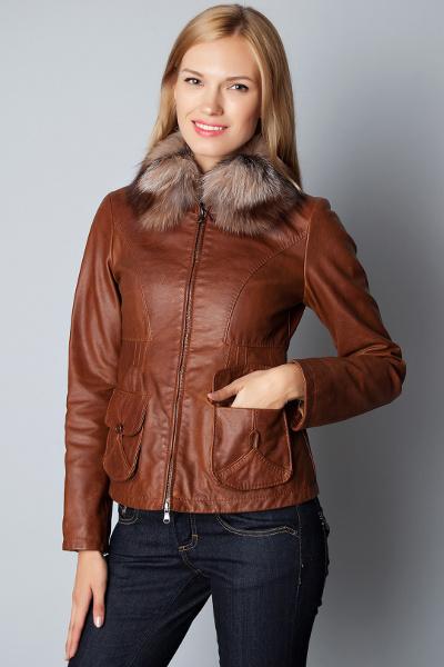 7366a5293ad Коричневая кожаная куртка