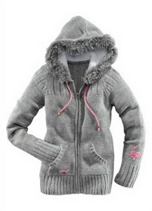 вязаная куртка с капюшоном женская фото