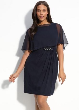 Платье из синего шифона сшить
