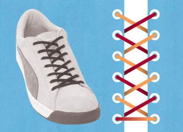37c84462 Шнуровка кроссовок с 5 дырками
