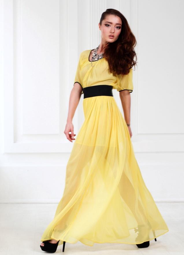 0ed78f9ec5c ... Шифоновое платье в пол 3