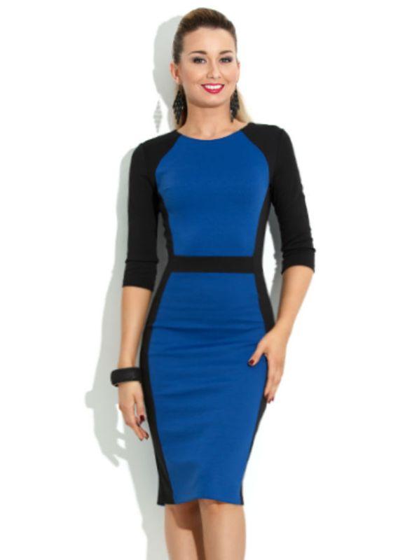 фото синее платье футляр
