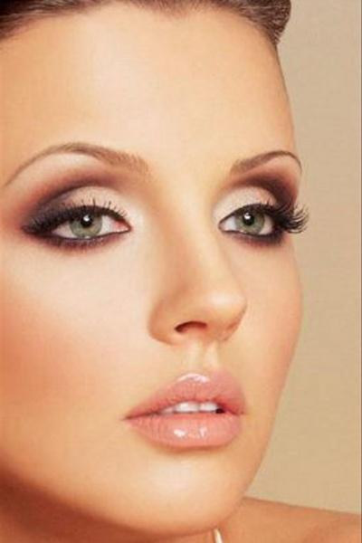 Свадебный макияж для светлых зеленых глаз фото