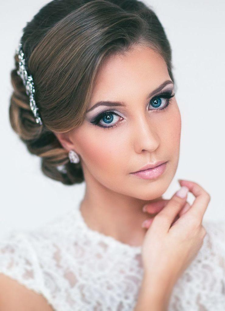 Прическа для круглого лица свадебная фото
