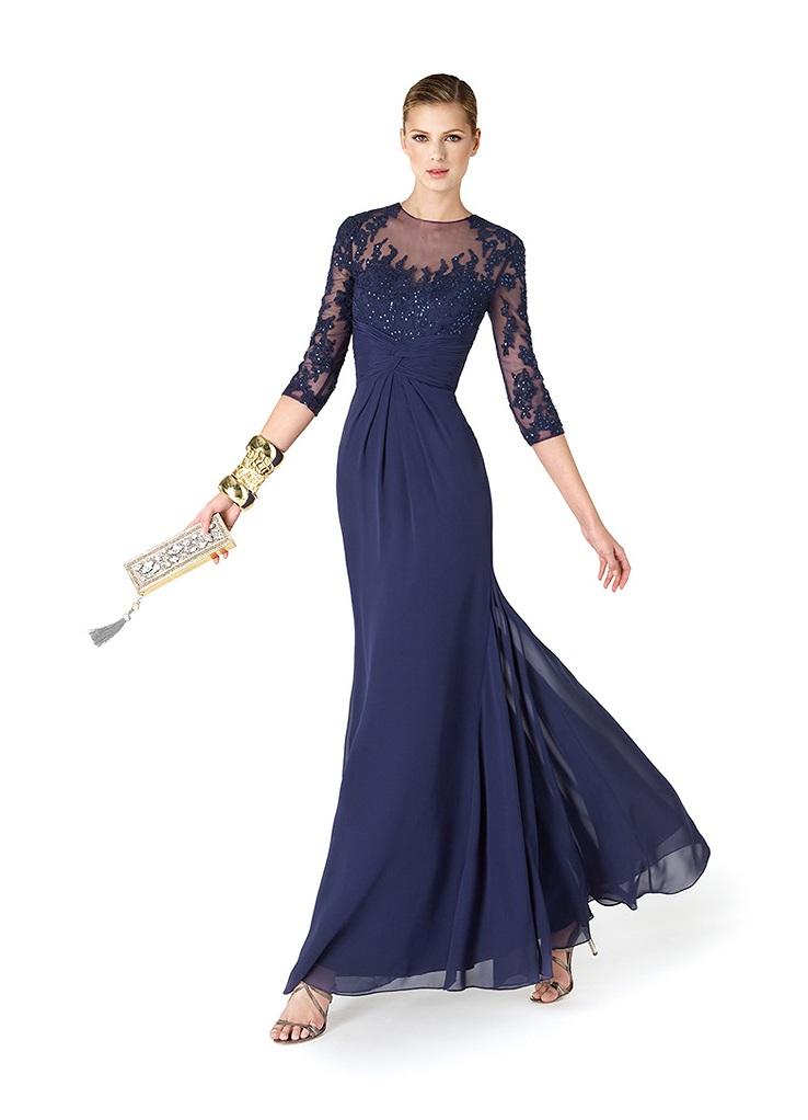 09c4f9d45ad74df Вечернее платье с длинным рукавом