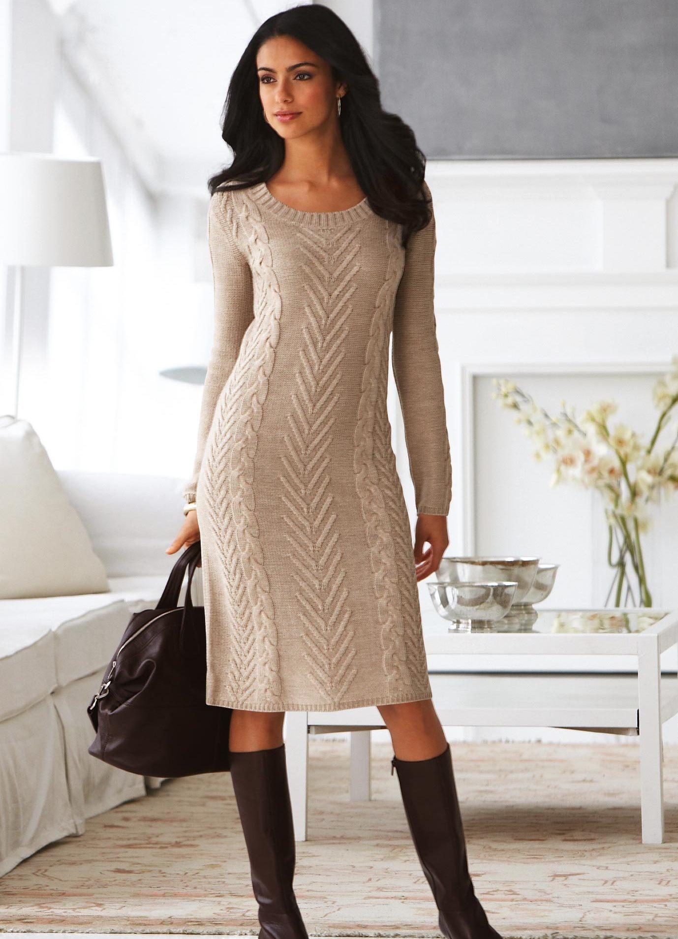 3d6c2ce336ec ... Вязаные теплые платья 6