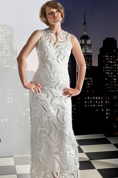 Схема вязаного вечернего платья фото 853