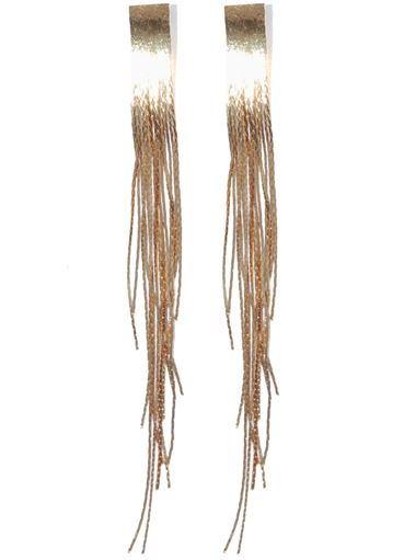 длинные серьги золотые фото