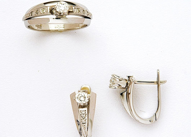 7c437ff59499 ... Золотые комплекты серьги и кольцо 5 ...