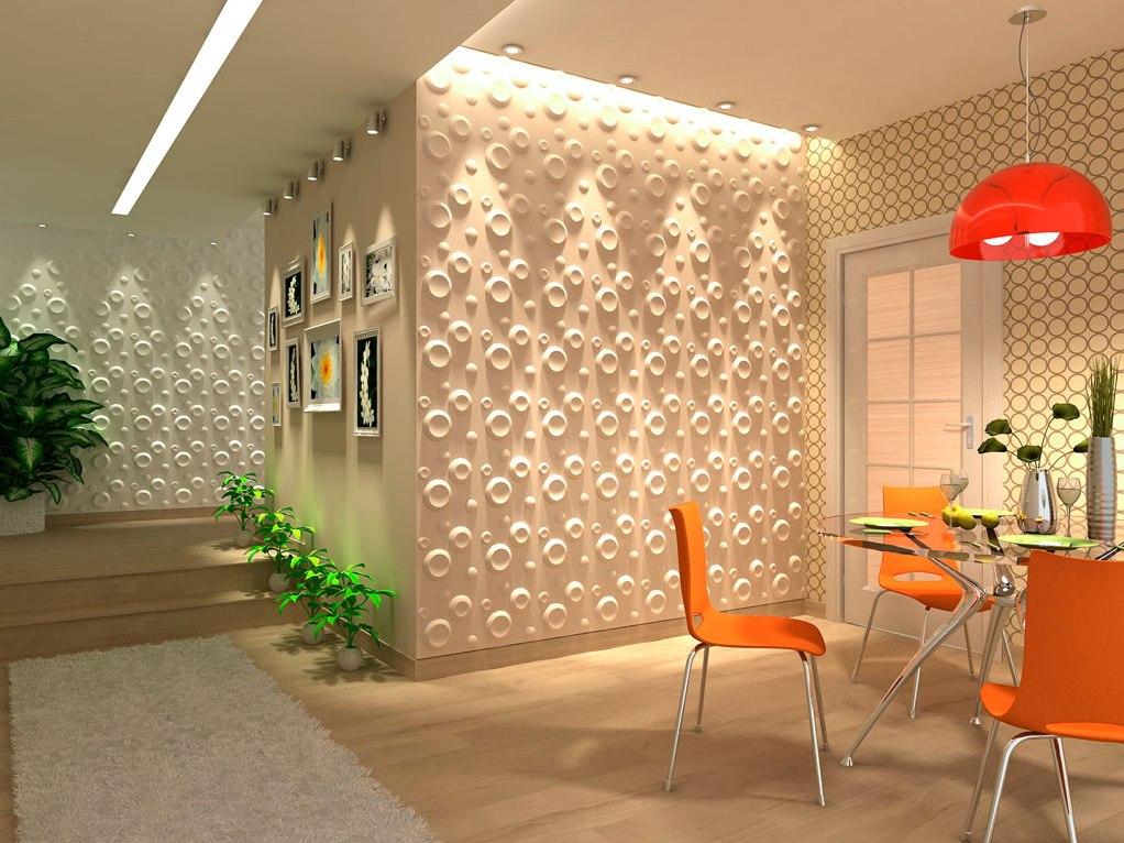 Оформление стен декор панелями фото