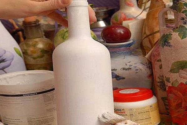 Декупаж бутылок салфетками своими руками 128