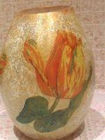 Декупаж вазы салфетками