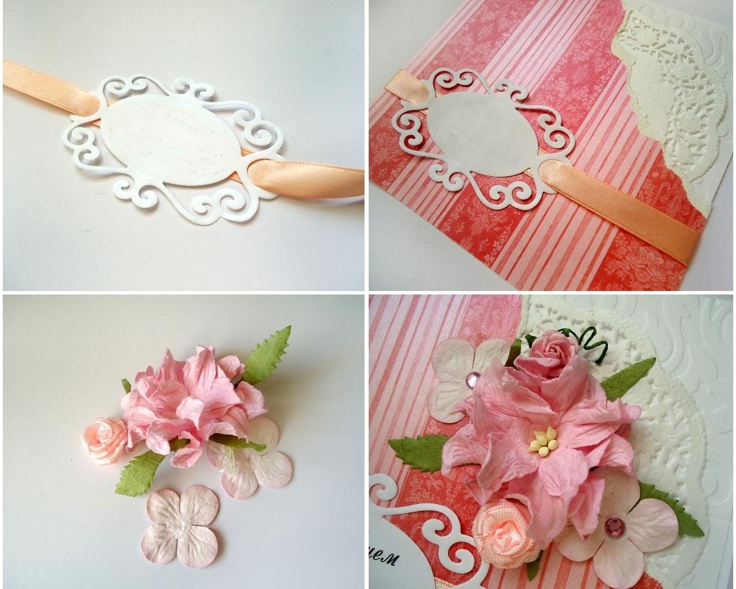 Цветы из бумаги на открытку, букету цветов