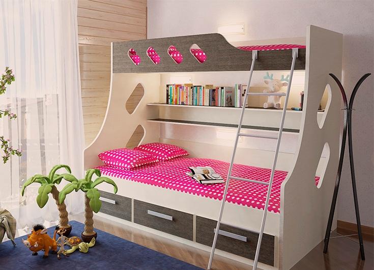 двухъярусные кровати детские для девочек фото