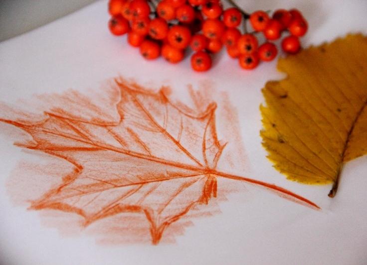 Как нарисовать красками осень