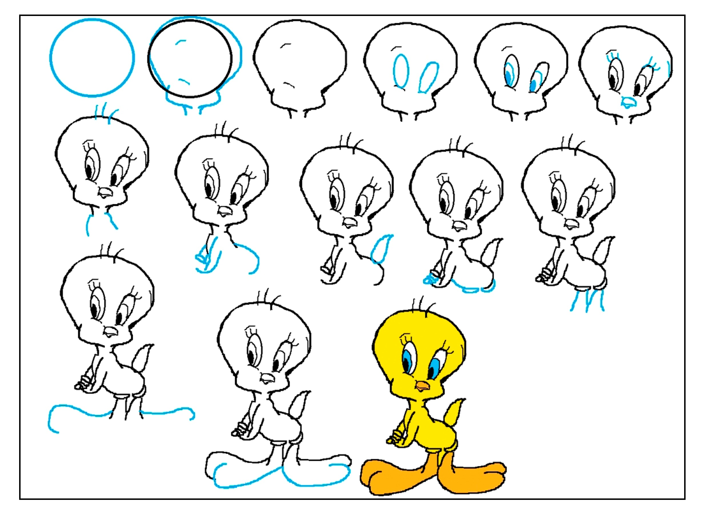 step by step drawing - 1024×764