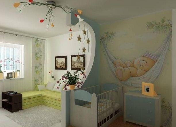 Интерьер однокомнатной квартир фото с ребенком