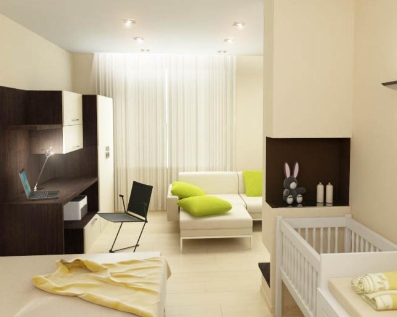Фото жилой комнаты с ребёнком